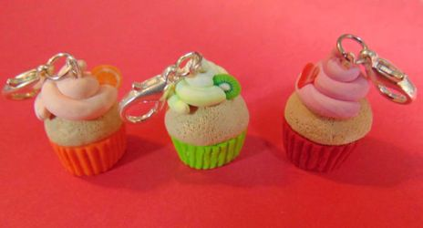 Fruit Cupcake Charms by SolarCrush
