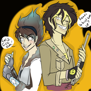 Overwatch OCs- Sparkplug and Yin Fawkes by Caryin