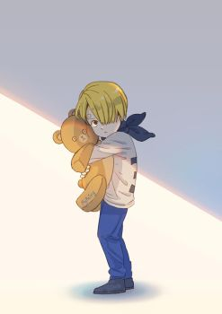young Vinsmoke Sanji with his Teddy bear by 0902pm