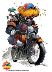 Mad Motorcyclist Commission by raultrevino