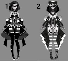 monochromatic blind outfit adoptables open 1/2 by AS-Adoptables