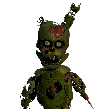 William Afton with Springtrap's texture by a1234agamer