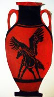Pegasus Amphora by Christa-S-Nelson