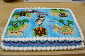 pirate map cake by The-EvIl-Plankton
