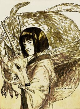 Haku Ryuu and the Boy Who Forgot His Name by Pen-scribble