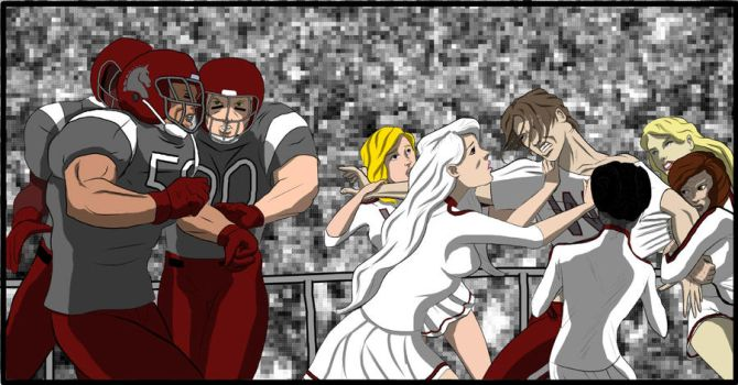 Fight at the Game by Heroid