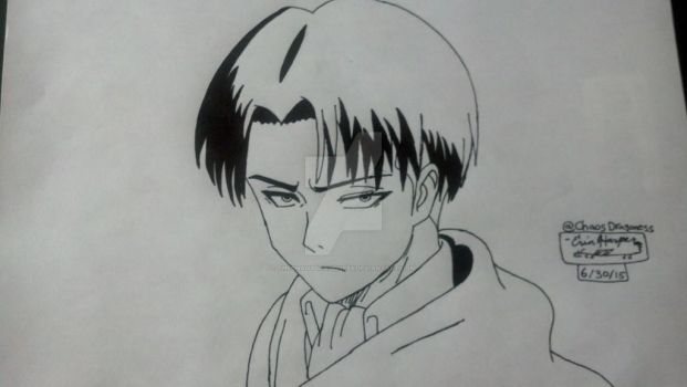 Levi Ackerman by TheChaosDragoness