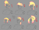 WIP Character Design: Hair styles by feathers-Ruffled