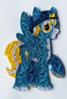 Quilling - Yellow Flash (MLP OC) by RzymonZPapieru