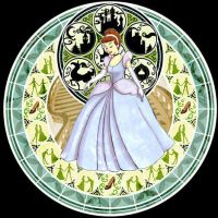 Stained Glass Cinderella Inv. by chibi22