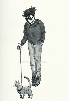 On a leash (inktober17) by Natello