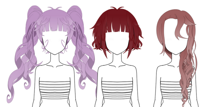 Hair Style Exports: Kisekae Hairs Favourites By HoneyChaan On DeviantArt