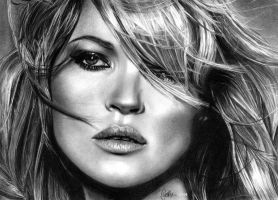 Kate Moss by ChrisWoottonArt