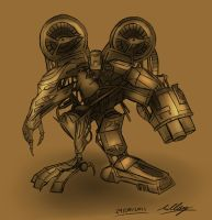 Mech Design 3 - Old Soldier by Adam-Clowery