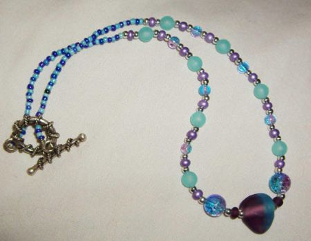 Necklace - Purple and Blue by EricaSkye