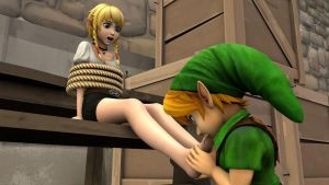 Linkle Toe Sucking by shrunkenlover