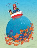 Ponyo - 'On Our Little Tugboat' by BritAndBran