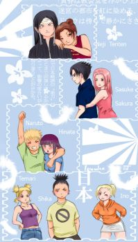 Naruto couples by Norwen
