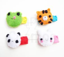 Animal Hair Clips by CosmiCosmos