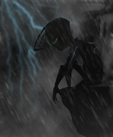 Zim in the rain by RoboticMasterMind