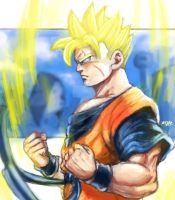 Future gohan painting by Mark-Clark-II