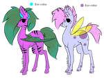 Bat and Pixie pony adopts  by Darumemay