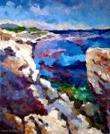 Ibiza Coastline by Art-deWhill