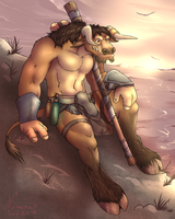 Tarruk in the Mountains by Naaura