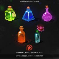 Isometric Bottle | Sketches for Patreon Reward#10 by Sephiroth-Art
