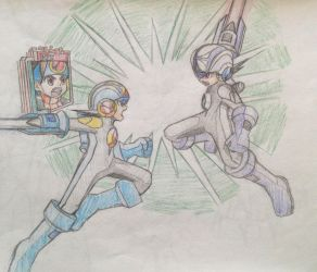 Dwabble: MegaMan and MegaManDS (3) by MidniteW