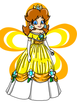 Daisy's Wardrobe: Flower Ball Gown by kcjedi89
