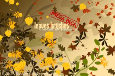 Leaves Brushes MEGA PACK by hawksmont