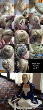 Saber Hair Styling Tutorial by RuffleButtCosplay