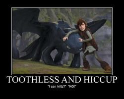 Toothless and Hiccup: Control by 6SeaCat9