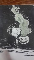 Inktober 1 - haunted pumpkin. by TF-KidoNightmare