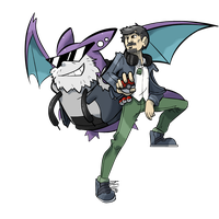 Commissioned Sketch - Trainer and Crobat