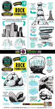 How to draw ROCK FORMATIONS tutorial by STUDIOBLINKTWICE