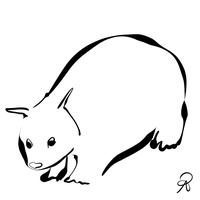 Inktober 2018 #21 - Northern Hairy-Nosed Wombat by callanerial