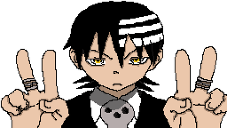 Pixel Art- Death The Kid by ironsepticgirl22