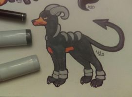 Inktober Day 5: Houndoom by Animals4Eva
