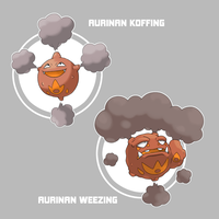 Aurinan Koffing and Weezing