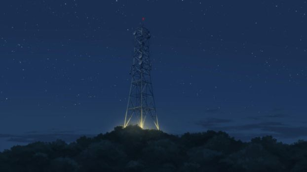 Radio Tower Night by mclelun