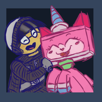 Good Cop and Unikitty Doodle by LittleKittenBerry