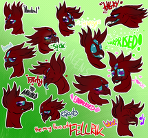 The Many Faces of Fellrik (Commission) by Glitchdove