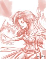 Phoenix wacom sketch by Mark-Clark-II