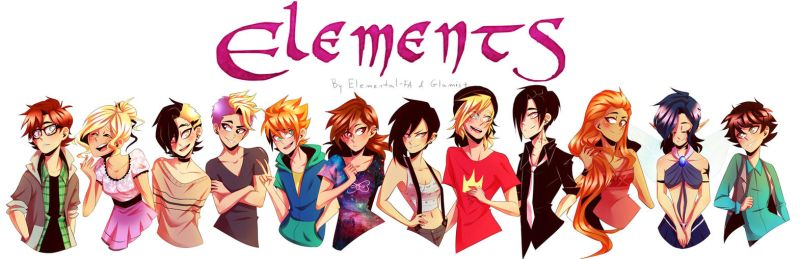 ELEMENTS Characters + speedpaint by Glamist
