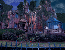 Haunted Mansion Background by WDWParksGal-Stock