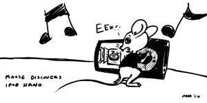 Mouse Discovers Ipod Nano by gaudog