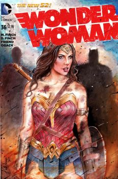 Wonder Woman on Blank Cover by Patty Arroyo Art by pattyarroyo