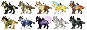 Wolf Adoptable - OPEN by mimmiley